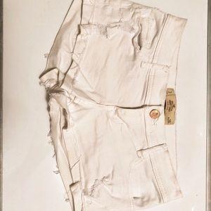 Hollister stretchy white short shorts